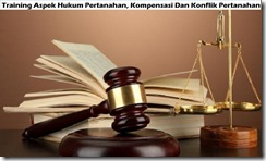 training legal aspects of land, compensation and conflict of land of mining area murah