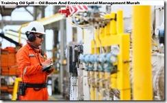 training oil spill - boom minyak dan manajemen lingkungan murah