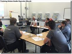 training operator audio system murah