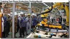 training dua pengujian produksi fase murah
